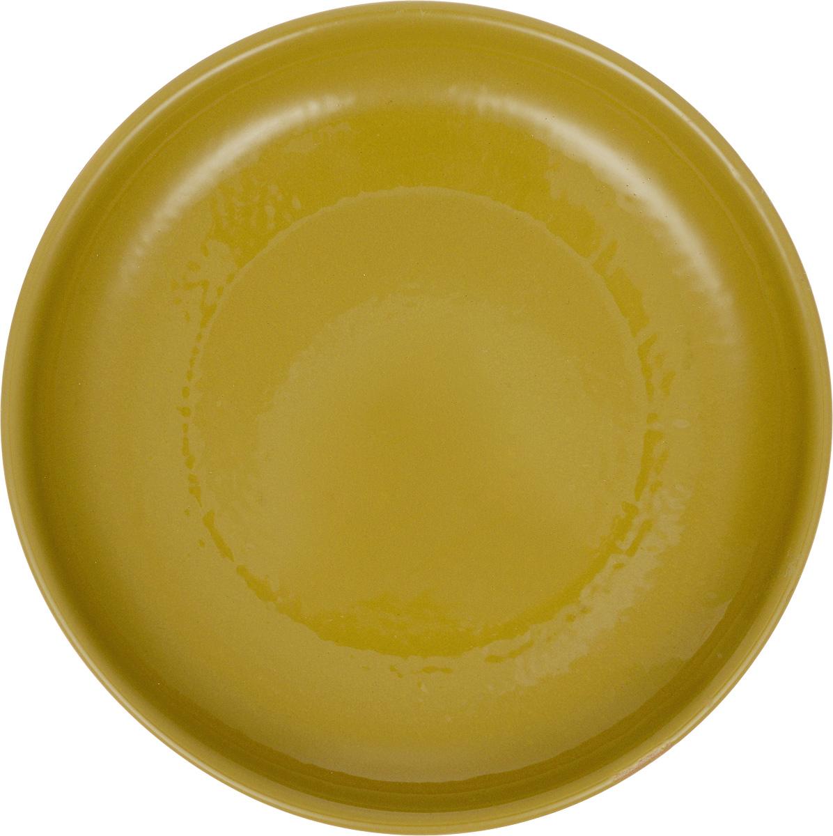 Тарелка Борисовская керамика Радуга, цвет: горчичный, диаметр 18 смFS-91909Тарелка Борисовская керамика Радуга, изготовленная из керамики, имеет изысканный внешний вид. Изделие идеально подойдет для сервировки стола. Тарелка отлично впишется в любой интерьер современной кухни и станет отличным подарком для вас и ваших близких.Можно использовать в духовке и микроволновой печи.Диаметр тарелки: 18 см.Высота тарелки: 3 см.