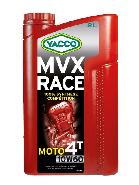 Масло Yacco MVX RACE 4T 10W60, для 4-тактных двигателей спортивных мотоциклов, 2 л194849MVX RACE 4T 10W-60 100% синтетическое масло для 4-тактных двигателей спортивных мотоциклов ПРИМЕНЕНИЕ 100% синтетическое моторное масло для 4-тактных двигателей мотоциклов, специально разработанное для спортивных соревнований. Защищает наиболее нагружаемые детали двигателя: коленчатый вал/поршни/распределительные валы/коробку передач/сцепление. Особо рекомендуется для двигателей в случае, когда производители мотоциклов требуют применение смазочного материала с классом вязкости 10W-60. ТИПИЧНЫЕ ПОКАЗАТЕЛИ Единицы измерения 10W-60 Плотность при 20°C кг/м3 851 Вязкость кинематическая при 40°C мм2/с 162 Вязкость кинематическая при 100°C мм2/с 24.5 Индекс вязкости 184 Температура застывания °C - 48 Температура вспышки (PMCC) °C > 220 Динамическая вязкость при - 25°C мПА*с (сП) 6000 Приведенные в таблице данные основаны на тестах в лабораторных условиях и предоставляются только как справочные. ПРЕИМУЩЕСТВА • Особый состав и класс вязкости SAE 10W-60 обеспечивают отличную устойчивость к деформации сдвига и превосходные высокотемпературные характеристики в жестких условиях эксплуатации • Оптимальная и быстрая смазка всех узлов при запуске двигателя • Отличные моющие и диспергирующие свойства обеспечивают надлежащую чистоту двигателя • 100% синтетическое масло с очень низкой летучестью минимизирует расход масла • Улучшенная защита двигателя от износа СПЕЦИФИКАЦИИ И ОДОБРЕНИЯ MVX RACE 2T соответствует требованиям спецификаций: API SL JASO MA2 Разработанное для применения в спортивных соревнованиях масло MVX RACE 4T 10W-60 значительно превосходит характеристики, определенные международными стандартами.