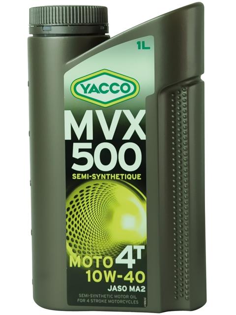 Масло Yacco MVX 500 4T 10W40, для мотоциклов с 4-тактными двигателями, 1 лS03301004MVX 500 4T 10W-40 Полусинтетическое масло для мотоциклов с 4-тактными двигателями ПРИМЕНЕНИЕ Высокоэффективная смазка двигателя в любых условиях эксплуатации, включая самые экстремальные условия, и в любое время года. Смазка также встроенных коробок передач, обеспечивая надлежащую защиту узла «коробка/сцепление» (допуски и одобрения JASO MA2). Подходит для всех типов мотоциклов (родстеры, дорожные мотоциклы, мотоциклы индивидуальной переделки, мотоциклы GT или спортивные мотоциклы).ПРЕИМУЩЕСТВА • Быстрая смазка при запуске двигателя • Отличные моющие и диспергирующие свойства • Адаптированные фрикционные свойства обеспечивают надлежащую работу сцепления • Высокоэффективная защита двигателя и коробки передач от износа • Поддержание первоначальных характеристик двигателя с обеспечением оптимальной защиты от образования осаждений • Снижение загрязняющих окружающую среду выбросов и экономия топлива СПЕЦИФИКАЦИИ И ОДОРЕНИ MVX 500 4T 10W-40 официально одобрено: JASO MA2 MVX 500 4T 10W-40 соответствует требованиям спецификаций: API SL