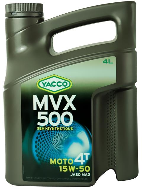 Масло Yacco MVX 500 4T 15W50, для мотоциклов с 4-тактными двигателями, 4 лSATURN CANCARDMVX 500 4T 15W-50 Полусинтетическое масло для мотоциклов с 4-тактными двигателями ПРИМЕНЕНИЕ Высокоэффективная смазка двигателя в любых условиях эксплуатации, включая самые экстремальные условия, и в любое время года. Смазка также встроенных коробок передач, обеспечивая надлежащую защиту узла «коробка/сцепление» (допуски и одобрения JASO MA2) Подходит для всех типов мотоциклов (родстеры, дорожные мотоциклы, мотоциклы индивидуальной переделки, мотоциклы GT или спортивные мотоциклы).ПРЕИМУЩЕСТВА • Класс вязкости 15W-50 обеспечивает оптимальную смазку при высоких температурах для безотказной работы мотора в высокотемпературных режимах • Отличные моющие и диспергирующие свойства. • Высокие фрикционные свойства позволяют избегать «проскальзывания сцепления». • Высокоэффективная защита двигателя и коробки передач от износа. • Поддержание двигателей в чистом состоянии, что способствует удалению загрязняющих веществ при сливе масла. • Низкая летучесть позволяет уменьшить расход масла СПЕЦИФИКАЦИИ И ОДОБРЕНИЯ MVX 500 4T 10W-40 официально одобрено: JASO MA2MVX 500 4T 10W-40 соответствует требованиям спецификаций: API SL