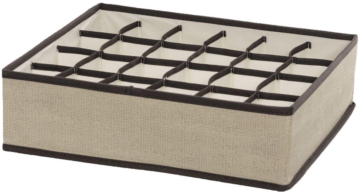 Органайзер HomeMaster, 35 х 32 х 10 смБрелок для ключейОрганайзер HomeMaster предназначен для хранения аксессуаров и нижнего белья. Он обеспечит бережное хранение вещей и позволит организовать внутреннее пространство вашего дома. Теперь вы быстро найдете необходимую вещь. Органайзер можно расположить, как на полке, так и в выдвижных ящиках вашего шкафа.