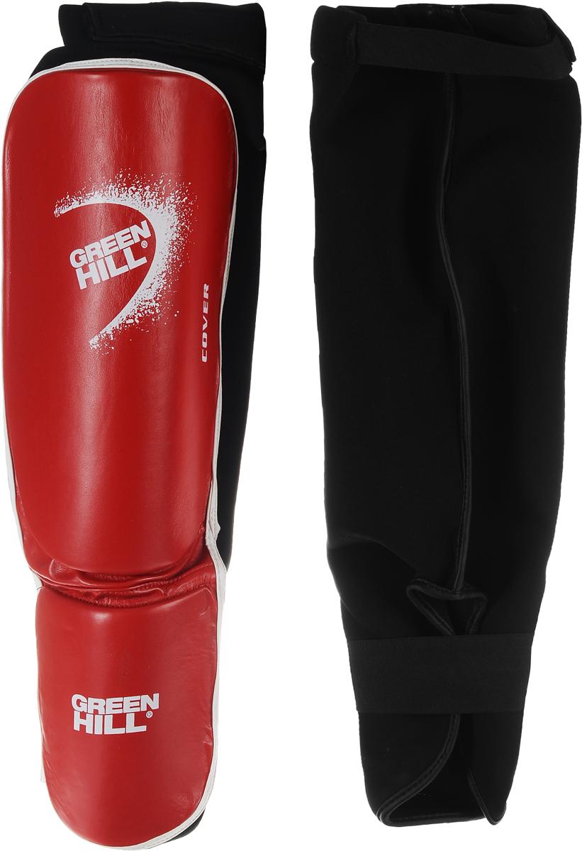 Защита голени и стопы Green Hill Cover, цвет: красный, белый. Размер XL. SIС-2141