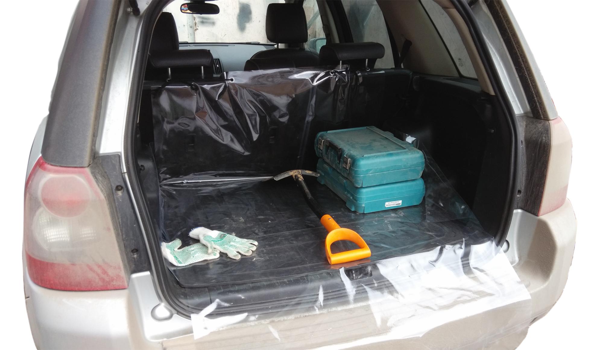Накидка защитная Оранжевый слоник Свежесть, в багажник, 100 х 125 х 50 смDEF0005TRНакидка Свежесть изготовлена из прочного водонепроницаемого материала. Защищает дно, боковые стенки багажника и спинки задних сидений от грязи и повреждений. Дополнительная накидка защитит бампер от царапин во время загрузки. Накидка быстро и легко одевается, не мешает откидыванию задних сидений. Подходит для большинства кроссоверов и универсалов.