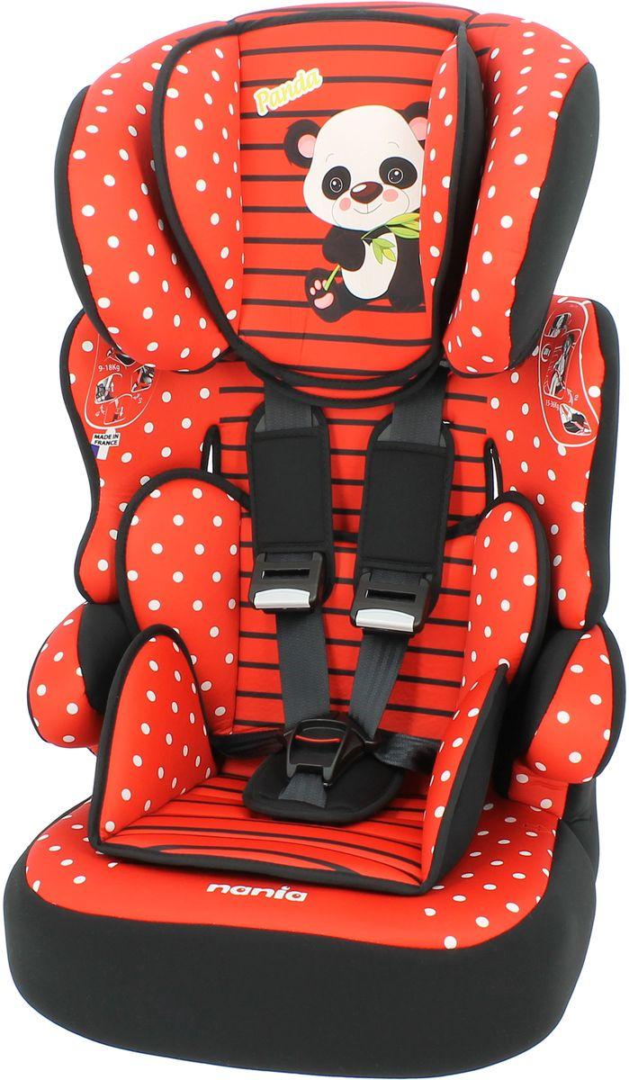 Nania Автокресло Beline SP от 9 до 36 кг цвет panda redFS-80423Автокресло nania Beline SP относится кгруппе 1/2/3, от 8 месяцев до 12 лет (9 - 36 кг). Соответствует стандартам ECE R44/04.Nania Beline SPэто два кресла в одном. Оно охватывает все возрастные группы в возрасте примерно от 8 месяцев до 12 лет (когда ребенка в автомобиле уже можно перевозить без специального удерживающего устройства) благодарярегулируемой по высоте спинке. Когда ребенок подрастет, спинку автокресла можно отстегнуть и использовать только бустер. Автокресло nania Beline SP было разработано согласно самым жестким требованиям безопасности, а также учитывая ортопедические факторы: мягкая приятная на ощупь обивка и анатомичная форма. Ваш ребенок будет чувствовать себя комфортно даже в дальних поездках.Широкие мягкие подголовник, спинка и подлокотники обеспечат дополнительный комфорт и безопасность маленького пассажира даже в случае бокового столкновения. Высоту подголовника можно регулировать по высоте, кресло растет вместе с Вашим ребенком. Все тканевые части легко снимаются и стираются.