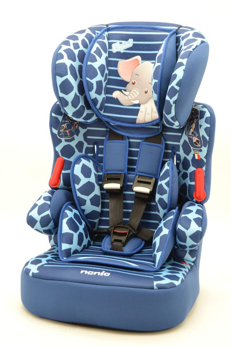 Nania Автокресло Beline SP Elephant от 9 до 36 кг293134Автокресло Nania Beline SP относится к группе 1/2/3, от 8 месяцев до 12 лет (9-36 кг). Соответствует стандартам ECE R44/04. Beline SP - это два кресла в одном. Оно охватывает все возрастные группы в возрасте от примерно 8 месяцев до 12 лет (когда ребенка в автомобиле уже можно перевозить без специального удерживающего устройства) благодаря регулируемому по высоте подголовнику. Когда ребенок подрастет, спинку автокресла можно отстегнуть и использовать только бустер. Автокресло Beline SP было разработано согласно самым жестким требованиям безопасности, а также учитывая ортопедические факторы: мягкая, приятная на ощупь обивка и анатомическая форма. Ваш ребенок будет чувствовать себя комфортно даже в дальних поездках. Широкий мягкий подголовник, спинка и подлокотники обеспечат дополнительный комфорт и безопасность маленького пассажира даже в случае бокового столкновения. Высоту подголовника можно регулировать по высоте, кресло растет вместе с вашим ребенком. Все тканевые части легко снимаются и стираются.