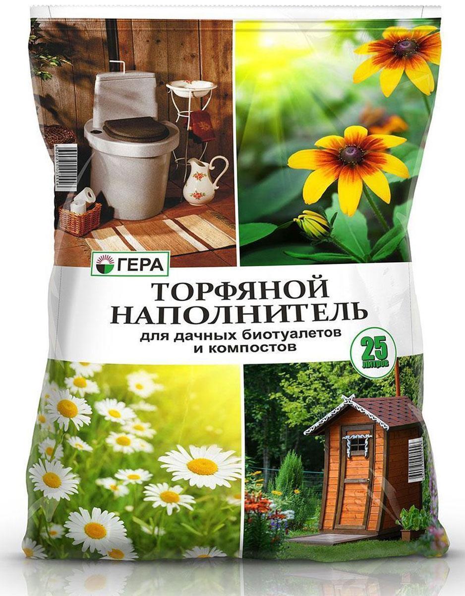 Торфяной наполнитель Гера, для дачных биотуалетов и компостов, 25 л