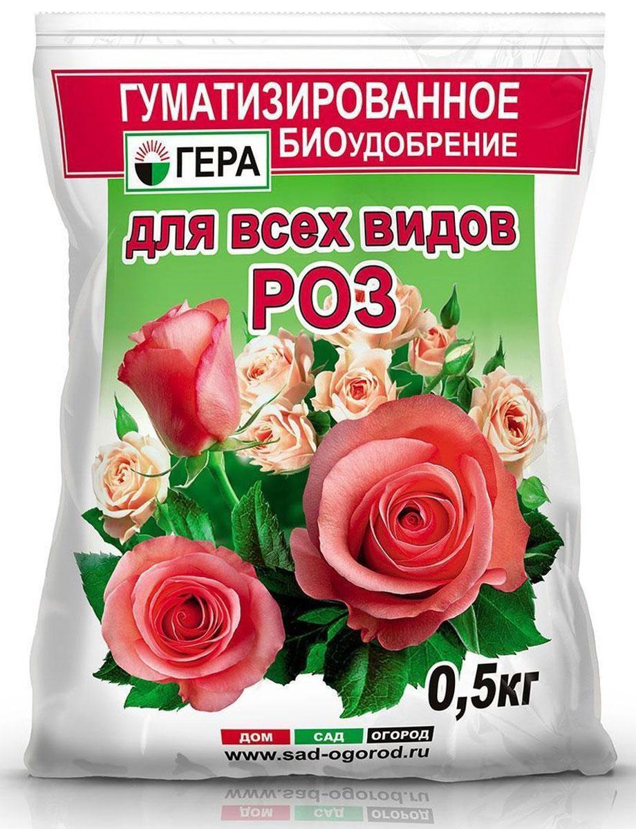Удобрение Гера Для Роз, 0,5 кгХ-01-20Смешанное удобрение Гера Для Роз подходит для основного внесения и подкормки всех видов роз на всех видах почв. Не содержит хлора и нитратного азота.Содержит полный сбалансированный набор элементов питания, необходимых для нормального роста и развития растений. Стимулирует пышное цветение, улучшает декоративные свойства. Введение гумата увеличивает рост наземной и корневой части растений, повышает устойчивость растений к неблагоприятным воздействиям среды, болезням и вредителям, а также позволяет повысить эффективность усвоения минеральных компонентов удобрения за счет перевода их в более доступную для растений форму.Товар сертифицирован.