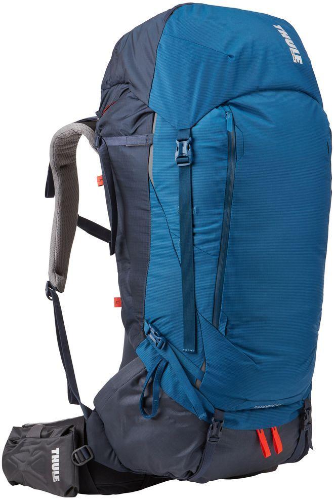 Рюкзак туристический мужской Thule Guidepost, цвет: синий, 75 л67743Thule Guidepost 75 л идеально подходит для недельных походов. Рюкзак отличается настраиваемой системой крепления TransHub, обеспечивающей идеальную посадку, поворачивающимся набедренным ремнем, который позволяет рюкзаку повторять ваши движения, и крышкой, способной трансформироваться в дополнительный рюкзак, который поможет вам покорить любую вершину.Особенности:- Лямки с шагом 15 см легко регулируются для идеальной посадки рюкзака, а наплечные ремни QuickFit имеют три варианта длины. - Система крепления Transhub и усиленный поясной ремень помогают максимально перенести вес рюкзака на бедра, обеспечивая более удобную посадку. - За счет поворотного поясного ремня рюкзак повторяет ваши движения, обеспечивая более естественную ходьбу. - Съемный верхний клапан трансформируется в отдельный просторный рюкзак объемом 28 л. - Съемный всепогодный сворачивающийся карман VersaClick защищает снаряжение от непогоды. - Регулируемый поясной ремень совместим со взаимозаменяемыми аксессуарами VersaClick (приобретаются отдельно).- Яркий съемный дождевой чехол поможет сохранить вещи сухими во время проливного дождя. - Разместив внешний аккумулятор в отделении PowerPocket, можно на ходу заряжать мобильное устройство в кармане поясного ремня. - Удобный доступ к содержимому рюкзака благодаря большой J-образной застежке на молнии на боковой панели. - Дышащая задняя панель способствует лучшей циркуляции воздуха, а мягкая опора обеспечивает поддержку в главных точках соприкосновения.