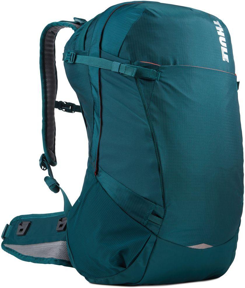 Рюкзак туристический женский Thule Capstone, цвет: темно-бирюзовый, 32 л224104Туристический женский рюкзак Thule Capstone прекрасно подходит для путешествий на целый день. Он имеет регулируемую подвеску, воздухопроницаемую заднюю панель и вшитый дождевой чехол.Рюкзак снабжен системой крепления MicroAdjust, которая обеспечивает максимальную регулировку для идеальной посадки, специальными наплечными и набедренными ремнями для женщин.Особенности: - Система крепления MicroAdjust позволяет отрегулировать ремень для торса на 10 см при надетом рюкзаке, чтобы добиться идеальной посадки;- Сеточная задняя панель натягивается, обеспечивая превосходную воздухопроницаемость и позволяя вам не потеть и оставаться сухим в пути;- Яркая съемная накидка от дождя обеспечивает сухость ваших принадлежностей во время ливней;- Карман с застежкой-молнией в верхней части рюкзака предназначен для хранения солнцезащитных очков и других мелких предметов;- Два кармана на набедренном ремне позволяют хранить еду, телефон и другие мелкие предметы;- Эластичный карман Shove-it Pocket обеспечивает быстрый доступ к часто используемым предметам;- Боковые стягивающие ремни позволяют закрепить груз на петлях или снаружи рюкзака;- Крепления для трекинговых палок и ледоруба с эластичными стропами можно убрать, если они не используются;- Конструкция, предназначенная для хранения воды, включает карман для емкости с водой, отверстие для трубки и два боковых кармана для бутылок с водой (бутылки приобретаются отдельно);- Предусмотрены предназначенные специально для женщин ремни, профили для туловища и набедренного ремня, обеспечивающие более удобную посадку.