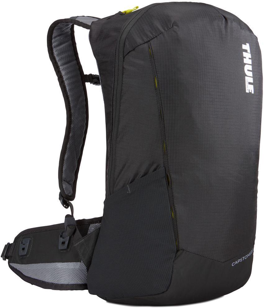 Рюкзак туристический мужской Thule Capstone, цвет: темно-серый, 22 л. 225100225100Туристический мужской рюкзак Thule Capstone - это надежный рюкзак для ежедневного использования с воздухопроницаемой задней панелью и вшитым дождевым чехлом.Особенности:- Сеточная задняя панель натягивается, обеспечивая превосходную воздухопроницаемость и позволяя вам не потеть и оставаться сухим в пути.- Яркая съемная накидка от дождя обеспечивает сухость ваших принадлежностей во время ливней. - Регулируемый поясной ремень совместим со взаимозаменяемыми аксессуарами VersaClick (приобретаются отдельно). - С помощью держателя палок VersaClick, входящего в комплект поставки, можно удобно закрепить трекинговые палки на поясном ремне, не снимая рюкзак. - Карман на молнии в верхней части рюкзака предназначен для хранения небольших предметов. - В карман на поясном ремне можно положить еду, телефон или небольшие предметы. - Можно легко переместить снаряжение в переднюю часть рюкзака с помощью ремешка, продетого сквозь прочную петлю. - Конструкция, предназначенная для хранения воды, включает карман для емкости с водой, отверстие для трубки и два боковых кармана для бутылок с водой (бутылки продаются отдельно).