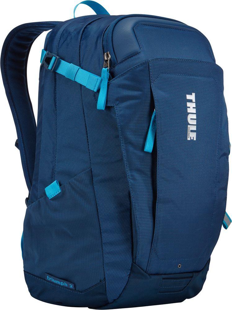 Рюкзак городской Thule EnRoute Triumph, цвет: синий, 21 л3203207Городской рюкзак Thule EnRoute Triumph 2 - это удобный рюкзак объемом 21 л с конструкцией SafeEdge для защиты ноутбука и отделениями для хранения самых необходимых повседневных вещей.Особенности:- Вмещает MacBook Pro с диагональю экрана 15 или ноутбук с диагональю экрана 14 и дополнительно планшет;- Чехол для ноутбука с конструкцией SafeEdge для защиты углов устройства и дополнительный накладной карман для планшета; - Ударопрочное отделение SafeZone для солнечных очков, смартфона и других хрупких предметов;- Карман с регулируемым размером обеспечивает быстрый доступ к хранящимся в нем вещам; - В отделении для ноутбука также можно хранить питьевую систему (в комплект не входит); - Карманы на переднем клапане, обеспечивающие быстрый доступ; - Потайные крепления со светоотражающими деталями; - Панель-органайзер обеспечит надежное хранение и быстрый поиск мелких предметов;- Выемки для вентиляции на задней стороне обеспечивают циркуляцию воздуха; - Мягкие ремни рюкзака с нагрудным ремнем обеспечивают максимальный комфорт. Размер: 31 x 29 x 44 см.