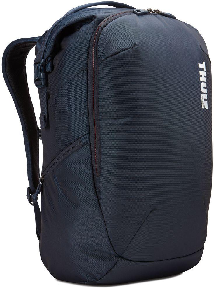 Рюкзак городской Thule Subterra Backpack, цвет: темно-синий, 34 лMABLSEH10001Рюкзак двойного назначения, который можно использовать как дорожную сумку или как обычный рюкзак. Отделение для хранения вещей пригодится для дальних поездок, выньте его при повседневном использовании. Широкая заворачивающаяся горловина с магнитной застежкой позволяет легко доставать содержимое.Съемное отделение для хранения вещей помогает поддерживать порядок и легко находить то, что нужно.Отделение с мягкой подкладкой и конструкцией SafeEdge для ноутбука (MacBook Pro с диагональю экрана 15 дюймов или ПК с диагональю экрана 15,6 дюйма).Специальный защитный карман с мягкой подкладкой для планшета.От внешнего аккумулятора во внутреннем отделении PowerPocket удобно заряжать различные устройства.Доступ к ноутбуку из верхнего отделения или через боковую молнию.Перфорированные наплечные ремни EVA с сетчатым покрытием и мягкой задней подушкой, пропускающие воздух, обеспечивают комфорт.Съемный регулируемый нагрудный ремень фиксирует наплечные ремни рюкзака и делает транспортировку более комфортной.Специальная панель для надежного крепления к дорожным сумкам на колесах помогает путешествовать с удобством.Внутренний карман с мягкой подкладкой для ценных вещей, например очков или телефона.Удобные отделения-органайзеры упрощают размещение мелких предметов.В растягивающемся боковом кармане на молнии безопасно хранятся небольшие предметы и помещается бутылка воды.