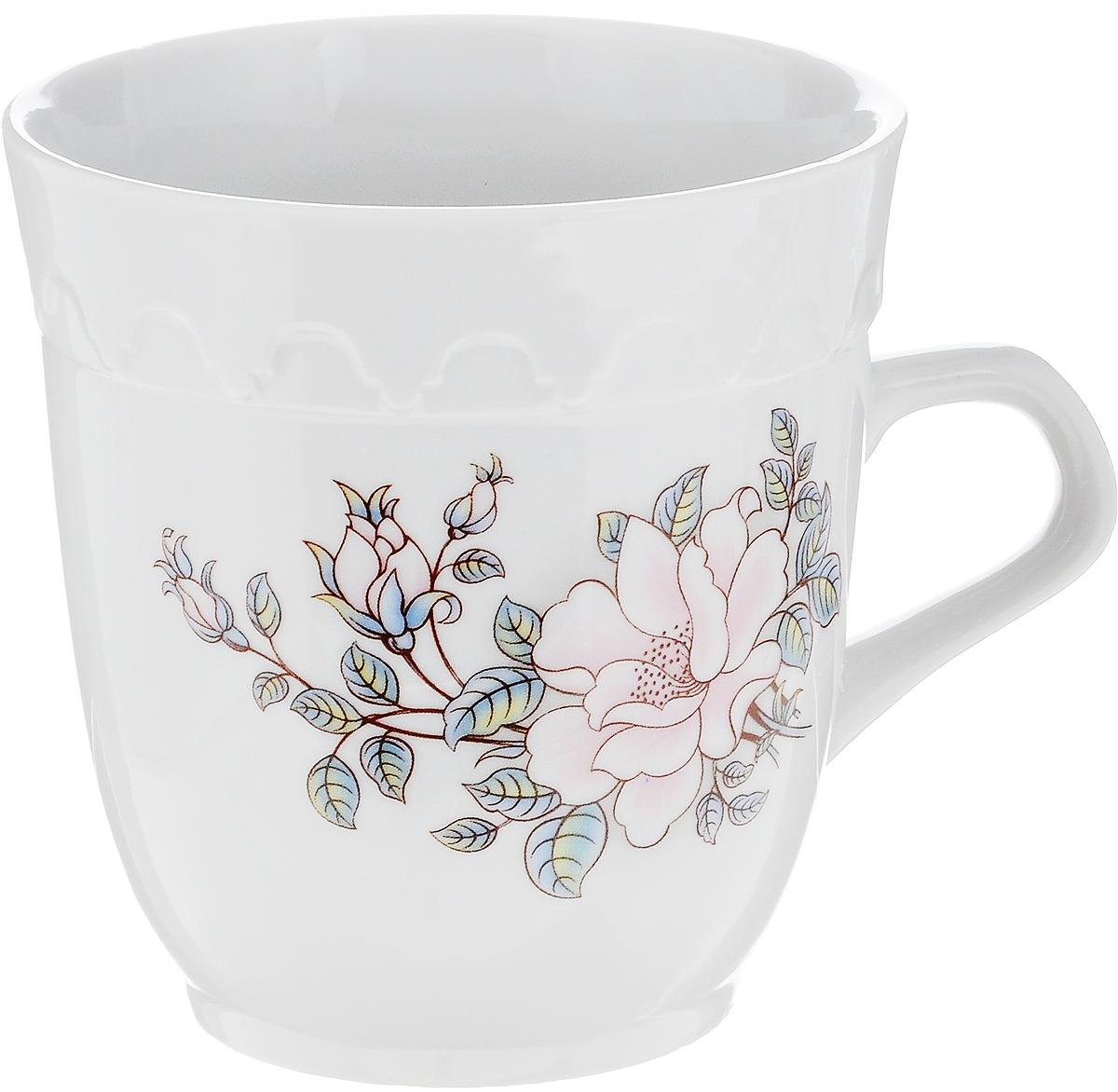 Кружка Фарфор Вербилок Арабеска. Микс. Розовые цветы, 250 мл115510Кружка Фарфор Вербилок Арабеска. Микс. Розовые цветы выполнена из высококачественного фарфора с глазурованным покрытием и оформлена оригинальным принтом. Посуда из фарфора позволяет сохранить истинный вкус напитка, а также помогает ему дольше оставаться теплым. Изделие оснащено удобной ручкой. Такая кружка прекрасно оформит стол к чаепитию и станет его неизменным атрибутом. Можно мыть в посудомоечной машине и использовать в СВЧ.Диаметр кружки (по верхнему краю): 8,5 см.Высота чашки: 9 см.