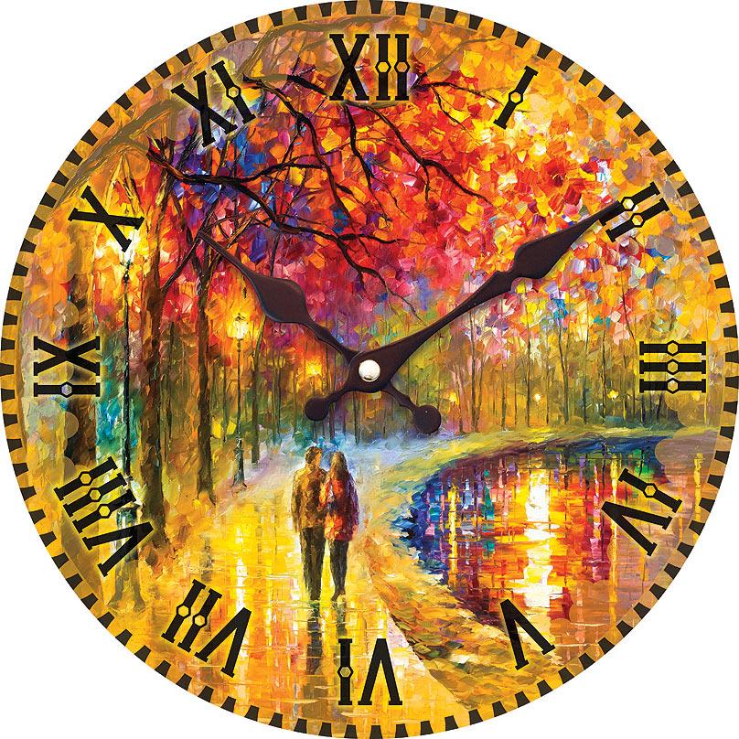 Часы настенные Белоснежка Пара у озера, диаметр 34 смП6-7-84Часы настенные Белоснежка станут изюминкой в дизайне интерьера вашего дома. Открытый циферблат выполнен из листа оргалита с декоративным покрытием. Часы имеют две стрелки – часовую и минутную. Часовой механизм сзади закрыт пластиковым корпусом. Предусмотрено отверстие для крепления на стену. Питание от одной батарейки стандарта АА (в комплект не входит).Диаметр часов: 34 см.