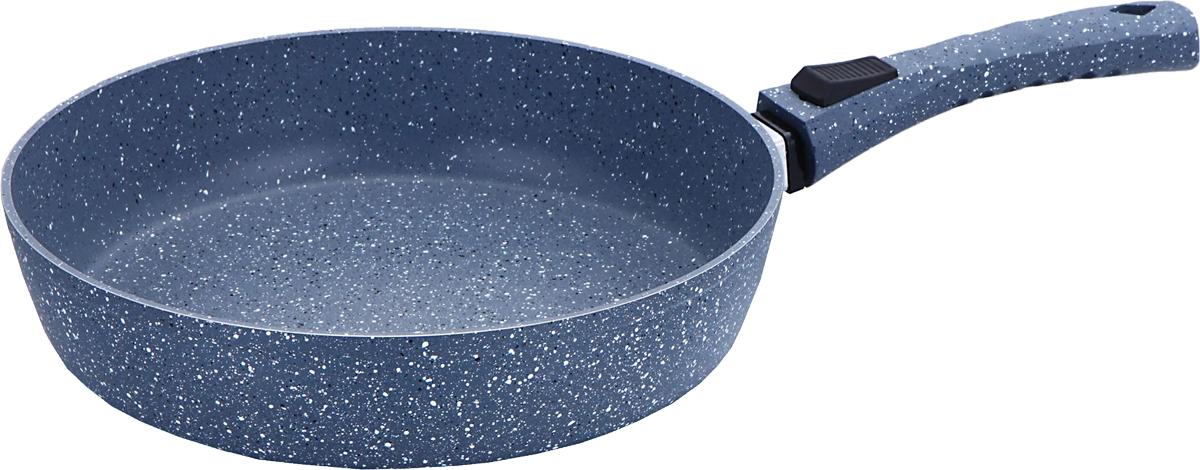 Сковорода Bekker Grey Marble, со съемной ручкой, с антипригарным мраморным покрытием. Диаметр 26 см94672Диаметр 26 см. Внутри мраморное антипригарное серое покрытие, снаружи жаропрочное мраморное серое покрытие. Бакелитовая съемная ручка Soft Touch. Толщина стенки 2,5 мм, дна 3,5 мм, высота 5,8 см. Подходит для индукционных плит и чистки в посудомоечной машине. Состав: кованый алюминий.