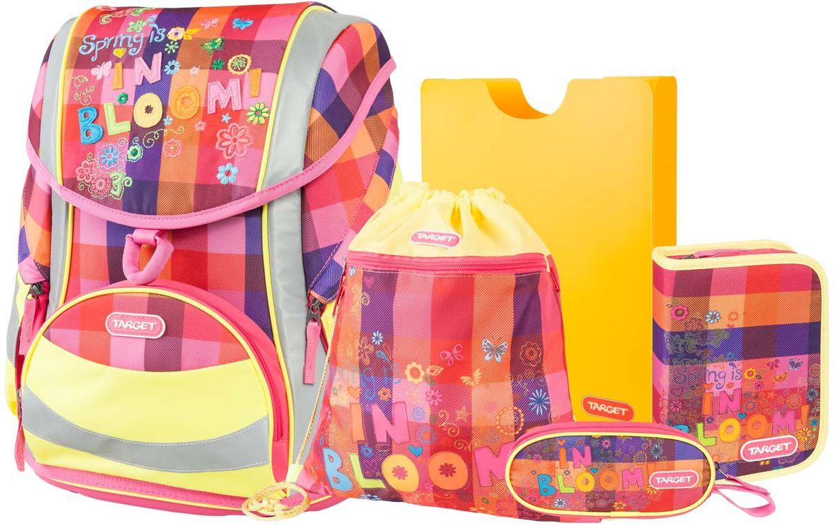 Target Collection Ранец школьный Цветание 5 в 172523WDРанец изготовлен из современных, прочных материалов. Техническими особенностями ранца является система Flexiball - поясничная поддержка, правильно распределяет вес ранца, автоматически подстраивается под ребенка, и поэтому обеспечивает идеальное положение в области поясницы ребёнка. Плечевые лямки можно регулировать для каждого ребенка индивидуально, содержат вентиляционные отверстия, оснащены ЭКО-пеной. Светоотражающий материал присутствует на передней, боковой и задней частях рюкзака, что позволяет сделать вашего ребенка более заметным, а так же обезопасить его не только днем, но и ночью. Молнии рюкзака прочные, металлические. В комплект данного набора входит сам ранец, сумка для сменной обуви, пенал овальный, пенал с канцтоварами (В комплекте: Точилка для карандашей, Ластик, Простой карандаш, 6 больших цветных карандаша,12 карандашей цветных), папка-держатель из ЭКО-пластика формата А4. При создании данной модели используются улучшенные материалы (3D), которые имеют свойство «дышать». Благодаря этим материалам воздух циркулирует, и следовательно, спина ребёнка не будет потеть. Дополнительно, имеется грудное крепление-стяжка для фиксации на плечах и поясничное крепление для фиксации на поясе ребенка, они установлены так, чтобы порфель самыми оптимальным образом сидел на на теле ребенка. Правильно используя ремни, вес портфеля распределяется следующим образом: 50% на бедра и 50% на поясничную часть, что ощутимо позволяет уменьшить нагрузку и усилия при ходьбе. Мягкая ручка в верхней части позволяет сделать ношение в руке более удобным и комфортным. Дно портфеля изготовлено из качественного и прочного материала. Внутри вложенные угловые элементы, чтобы не было прямого контакта с грунтом и таким образом, образуется защита от грязи. Порфель предназначен для детей ростом от 110 см: размер M - для детей ростом между 110 и 125 см;размер L подходит для детей ростом между 125 и 140 см;размер XL - для детей выше 140 см