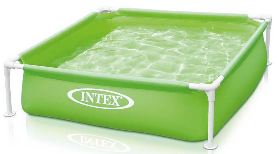 Бассейн каркасный Intex Квадрат мини, 122 х 122 х 30 см, от 2 лет. с57172с57172Детский каркасный бассейн Intex Квадрат мини квадратной формы зеленого цвета. Металлический каркас обеспечивает прочность конструкции. Чаша бассейна выполнена из высококачественного плотного двухслойного винила толщиной 0,50 мм (стенки) и 0,25 мм (дно). Для комфортного безопасного купания имеются мягкие накладки на горизонтальных перекладинах.Бассейн легко устанавливается за 10-15 минут. Для слива и чистки бассейна предусмотрен удобный сливной клапан.Характеристики:Объем (при 80% заполнении): 337 л (24cm):.Чаша из винила, толщина стенок 0.50мм, толщина дна 0.25мм;Каркас из оцинкованной стали.