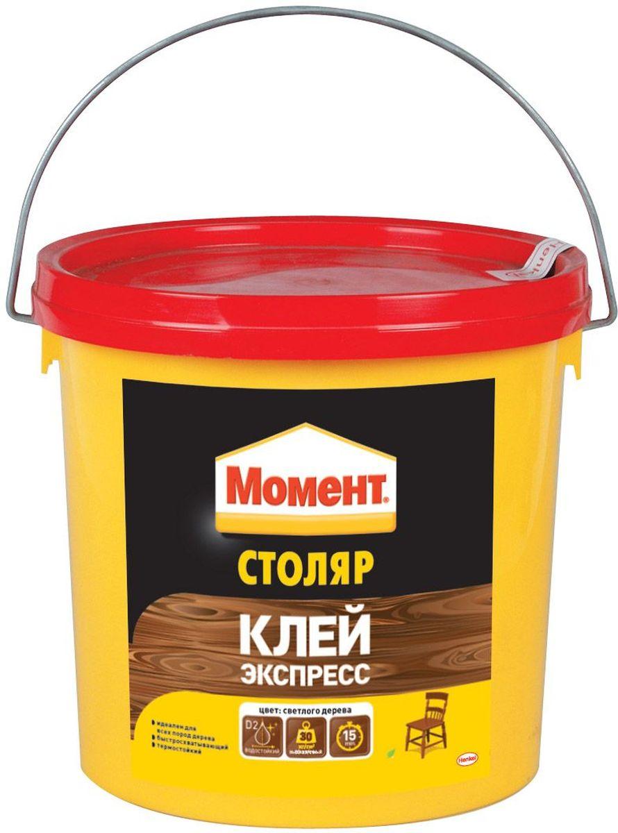 Клей Момент Столяр, 3 кгTD 0033Клей Момент Столяр предназначен для всех пород дерева, ДСП, ДВП, МДФ, фанеры, шпона, облицовочных материалов. Рекомендуется к применению при изготовлении окон и дверей, мебели для кухни или ванной, для монтажного склеивания деревянных изделий и деталей, подверженных влиянию влажной среды. Обеспечивает надежный прозрачный клеевой шов.
