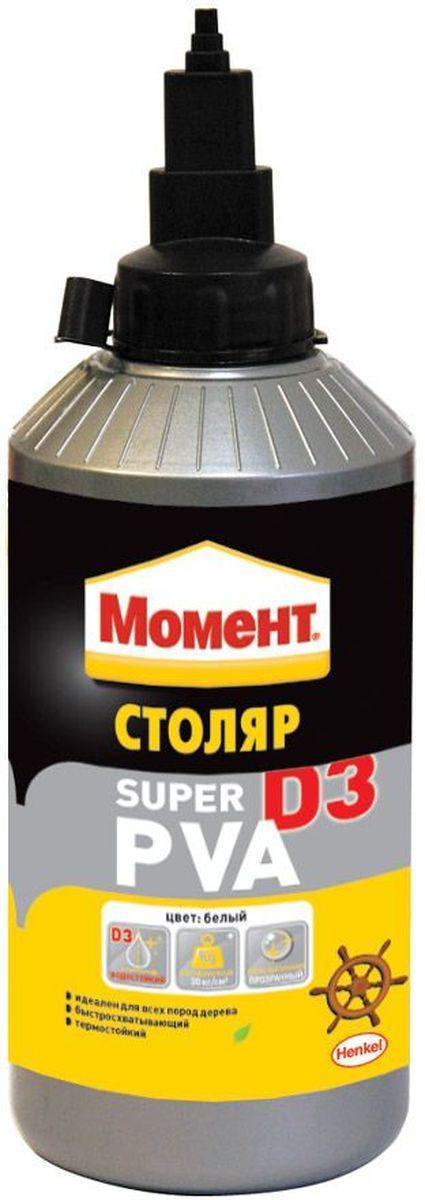 Клей Момент Супер ПВА D3, 750 гCLP446Клей Момент Супер ПВА D3 предназначен для всех пород дерева, ДСП, ДВП, МДФ, фанеры, шпона, облицовочных материалов. Рекомендуется к применению при изготовлении окон и дверей, мебели для кухни или ванной, для монтажного склеивания деревянных изделий и деталей, подверженных влиянию влажной среды. Обеспечивает надежный прозрачный клеевой шов.