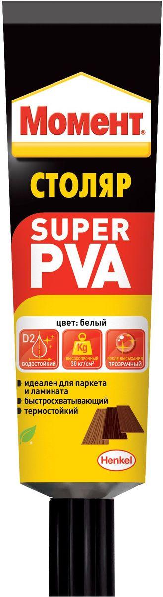 Клей Момент Super PVA, 125 г2111578Надежный клей момент Super PVA предназначен для всех пород дерева, ДСП, ДВП, МДФ, фанеры, шпона, ламината, картона, фурнитуры, ткани, кожи, некоторых пластиков. Рекомендуется для монтажного склеивания изделий из всех пород дерева, не подвергающихся постоянному воздействию влаги.