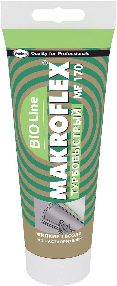 Клей Makroflex BioLine MF170, турбобыстрый, 250 гTD 0033Для внутреннего и наружного** применения; для крепления любых видов панелей из стиопора, пластика и др. материалов, в т.ч. потолочных, для крепления плинтусов. Одна из склеиваемых поверхностей должна быть пористой (впитывать воду).** если защитить шов от воздействия внешней среды