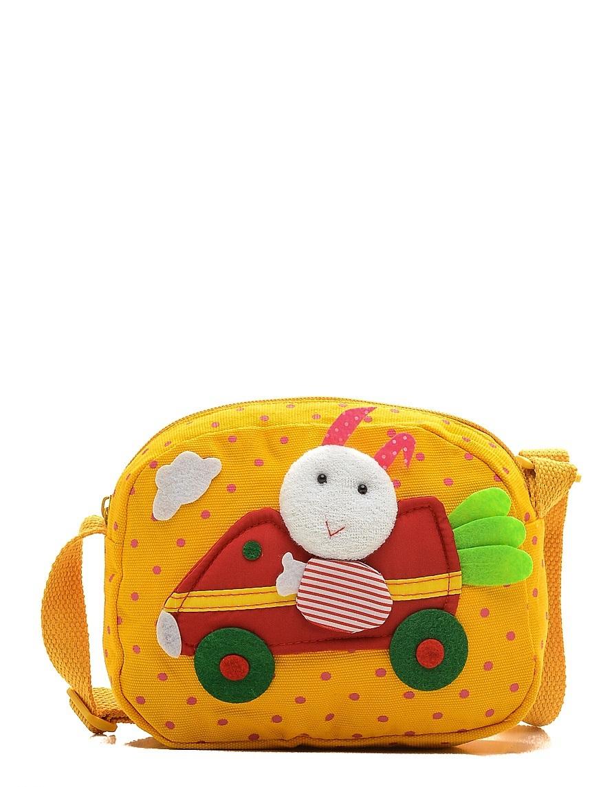 Сумка детская Vitacci, цвет: желтый. 24014-14BM8434-58AEДетская стильная сумочка Vitacci выполнена из качественного текстиля.Сумка имеет одно вместительное отделение и застегивается на застежку-молнию. Внутри модель имеет один накладной открытый кармашек. Спереди сумка оформлена интересной декорацией из текстиля.Сумка оснащена съемным наплечным ремнем, который регулируется по длине.