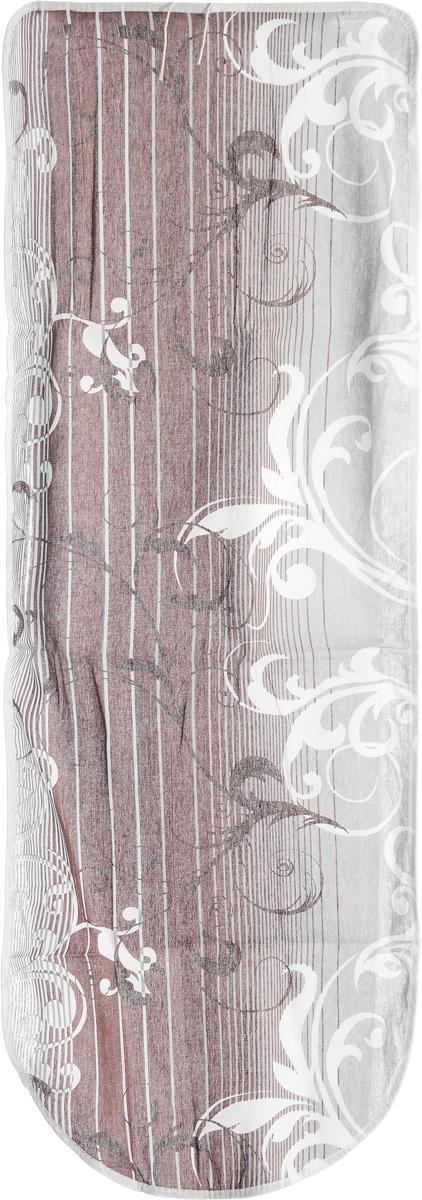 Чехол для гладильной доски Eva Грация, цвет: коричневый, серый, 125 х 47 смGC204/30Чехол Eva Грация, выполненный из хлопка со вспененным слоем, продлит срок службы вашей гладильнойдоски. Чехол снабжен стягивающим шнуром, припомощи которого вы легко отрегулируетеоптимальное натяжение чехла и зафиксируете его нарабочей поверхности гладильной доски.Размер чехла: 125 х 47 см. Максимальный размер доски: 116 х 40 см.
