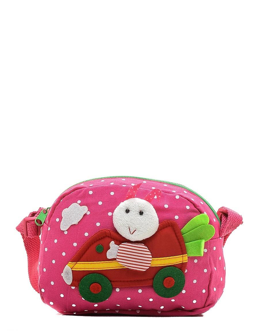 Сумка детская Vitacci, цвет: розовый. 24013-11747998-101Детская стильная сумочка Vitacci выполнена из качественного текстиля.Сумка имеет одно вместительное отделение и застегивается на застежку-молнию. Внутри модель имеет один накладной открытый кармашек. Спереди сумка оформлена интересной декорацией из текстиля.Сумка оснащена съемным наплечным ремнем, который регулируется по длине.