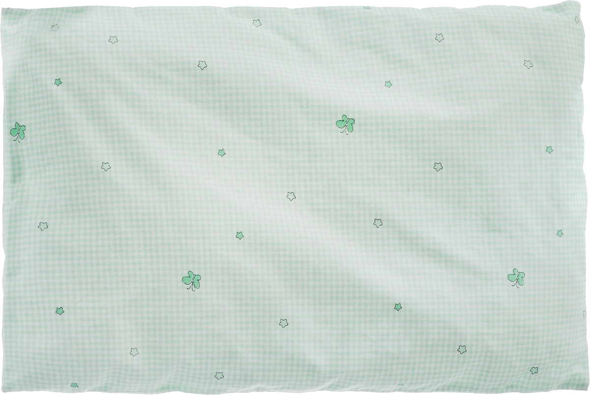 Сонный гномик Подушка в кроватку цвет светло-зеленый белый