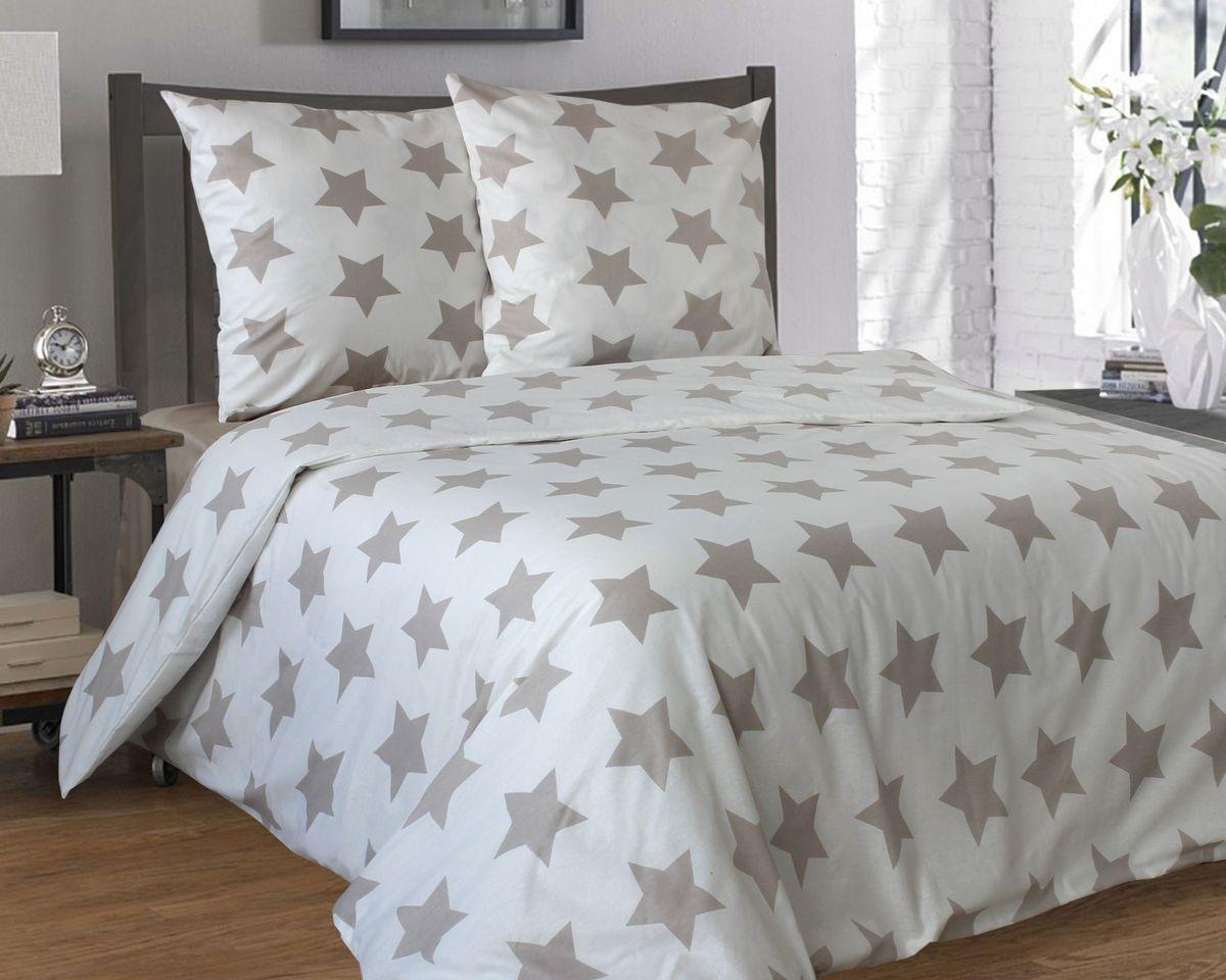 Комплект белья Коллекция Звезды, 1,5-спальный, наволочки 50x70 смFD-59Комплект постельного белья Коллекция Звезды выполнен из бязи (100% натурального хлопка). Комплект состоит из пододеяльника, простыни и двух наволочек. Постельное белье оформлено принтом в виде звезд.Хорошая, качественная бязь всегда ценилась любителями спокойного и комфортного сна. Гладкая структура делает ткань приятной на ощупь, мягкой и нежной, при этом она прочная и хорошо сохраняет форму. Благодаря такому комплекту постельного белья вы сможете создать атмосферу роскоши и романтики в вашей спальне.