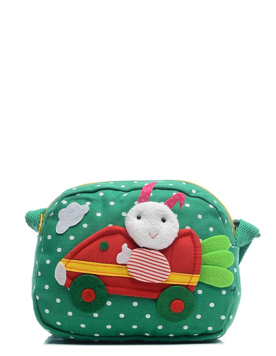 Сумка детская Vitacci, цвет: зеленый. 24012-6BM8434-58AEДетская стильная сумочка Vitacci выполнена из качественного текстиля.Сумка имеет одно вместительное отделение и застегивается на застежку-молнию. Внутри модель имеет один накладной открытый кармашек. Спереди сумка оформлена интересной декорацией из текстиля.Сумка оснащена съемным наплечным ремнем, который регулируется по длине.