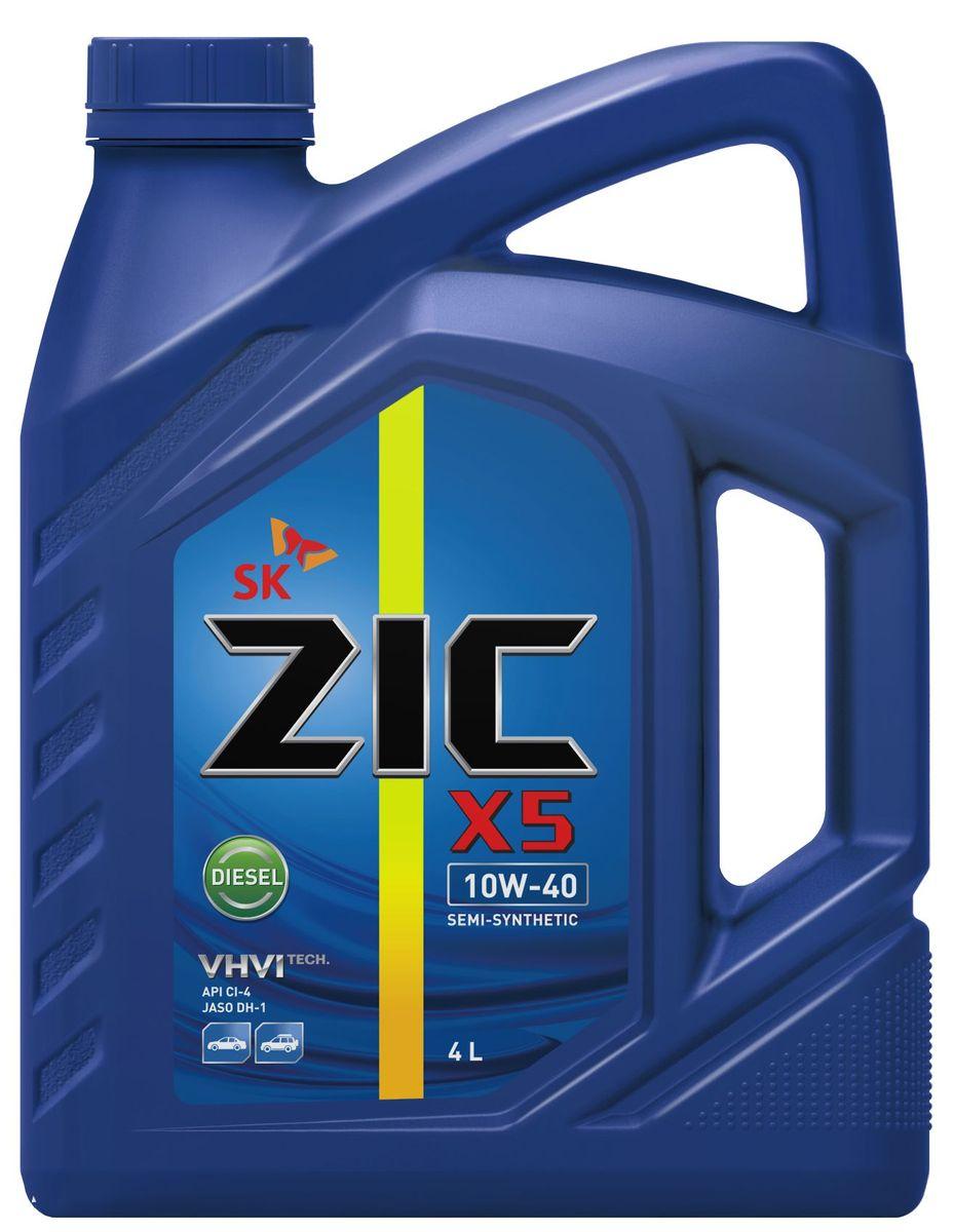 Масло моторное ZIC X5 Diesel, полусинтетическое, класс вязкости 10W-40, API CI-4, 4 л. 16266010503Всесезонное полусинтетическое моторное масло высшего качества ZIC X5 Diesel предназначено для дизельных двигателей малого и среднего объемов. Изготовлено на основе базового масла YUBASE и сбалансированного пакета современных присадок. Адаптировано к дизельному топливу российских стандартов. Плотность при 15°C: 0,8507 г/см3.Температура вспышки: 240°С. Температура застывания: -37,5°С.
