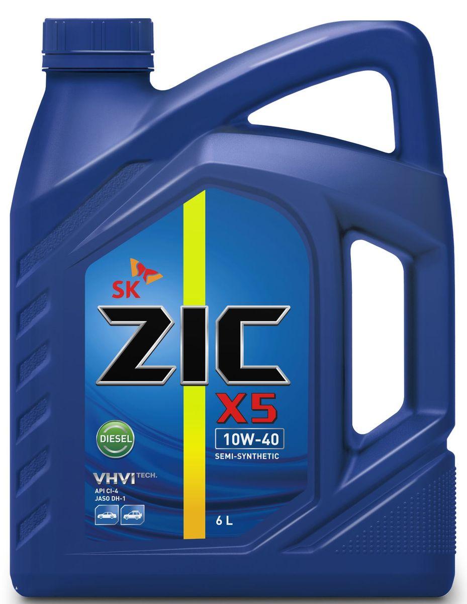 Масло моторное ZIC X5 Diesel, полусинтетическое, класс вязкости 10W-40, API CI-4, 6 л. 172660531-402Всесезонное полусинтетическое моторное масло высшего качества ZIC X5 Diesel предназначено для дизельных двигателей малого и среднего объемов. Изготовлено на основе базового масла YUBASE и сбалансированного пакета современных присадок. Адаптировано к дизельному топливу российских стандартов. Плотность при 15°C: 0,8507 г/см3.Температура вспышки: 240°С. Температура застывания: -37,5°С.