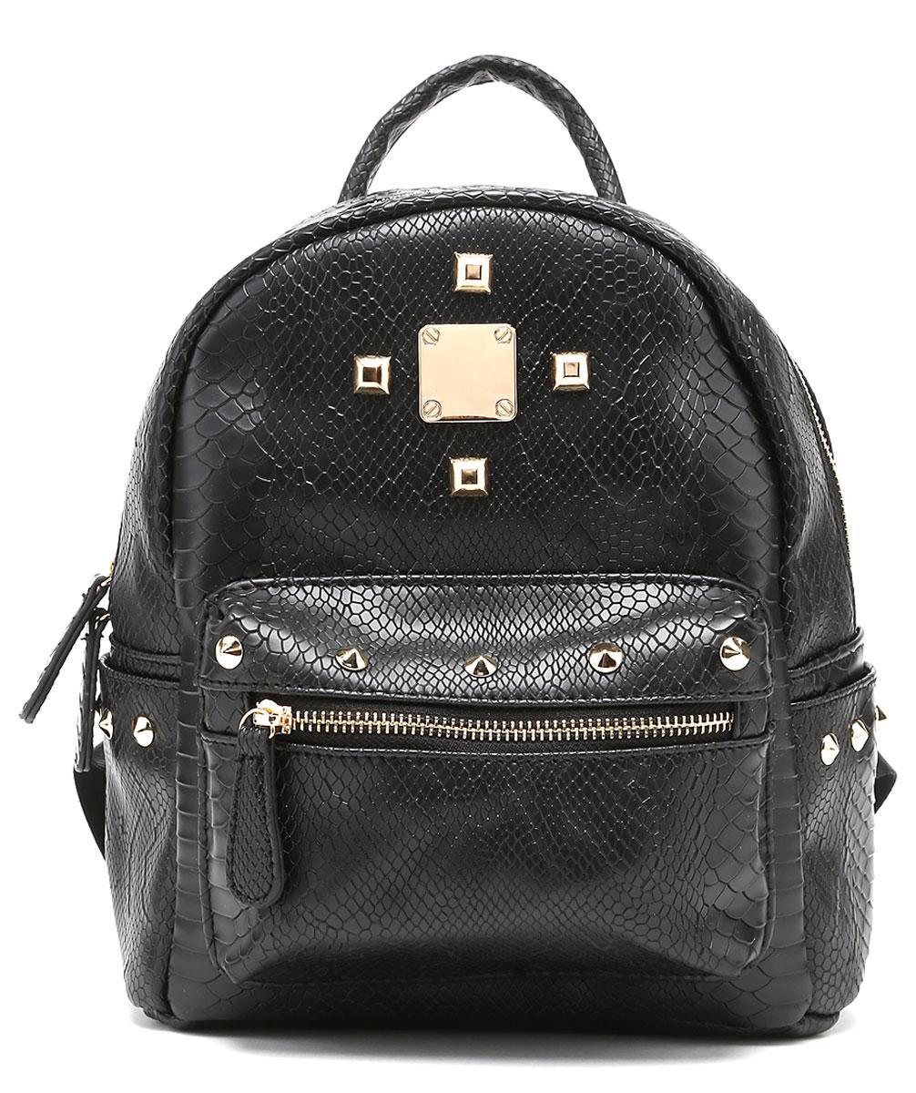 Рюкзак женский DDA, цвет: черный. SB-1041INT-06501Женский рюкзак David Jones изготовлен из качественной экокожи.Рюкзак имеет одно вместительное отделение и застегивается на застежку-молнию. Внутри отделения находятся два открытых накладных кармана и один врезной на молнии. По бокам рюкзака имеются два открытых накладных кармашка. Лицевая часть дополнена объемным накладным карманом на молнии. Изделие оснащено ручкой для переноски и двумя текстильными наплечными ремнями, длину которых можно регулировать.