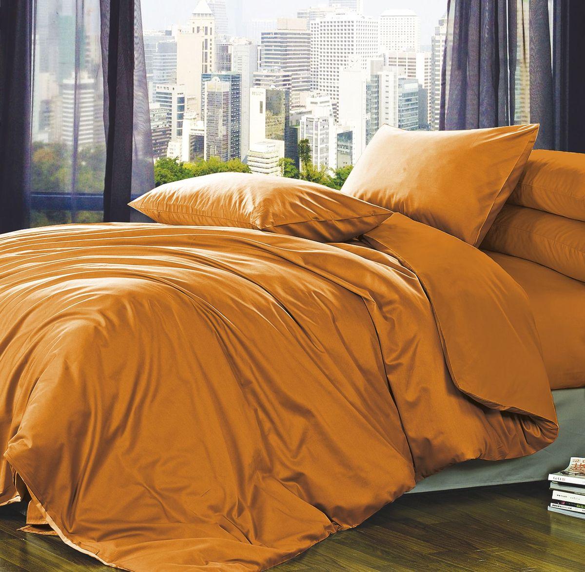 Комплект белья Коллекция Оранжевый, 2-спальный, наволочки 70x70 смСуховей — М 8Комплект постельного белья Коллекция Оранжевый выполнен из полисатина. Комплект состоит из пододеяльника, простыни и двух наволочек. Тонкое, средней плотности, с шелковистой поверхностью и приятным блеском постельное белье устойчиво к износу, не выгорает, не линяет, рассчитано на многократные стирки. Двойная скрутка волокон позволяет получать довольно плотный, прочный на разрыв материал. Легко отстирывается, быстро сохнет и самой важно для хозяек - не мнется!