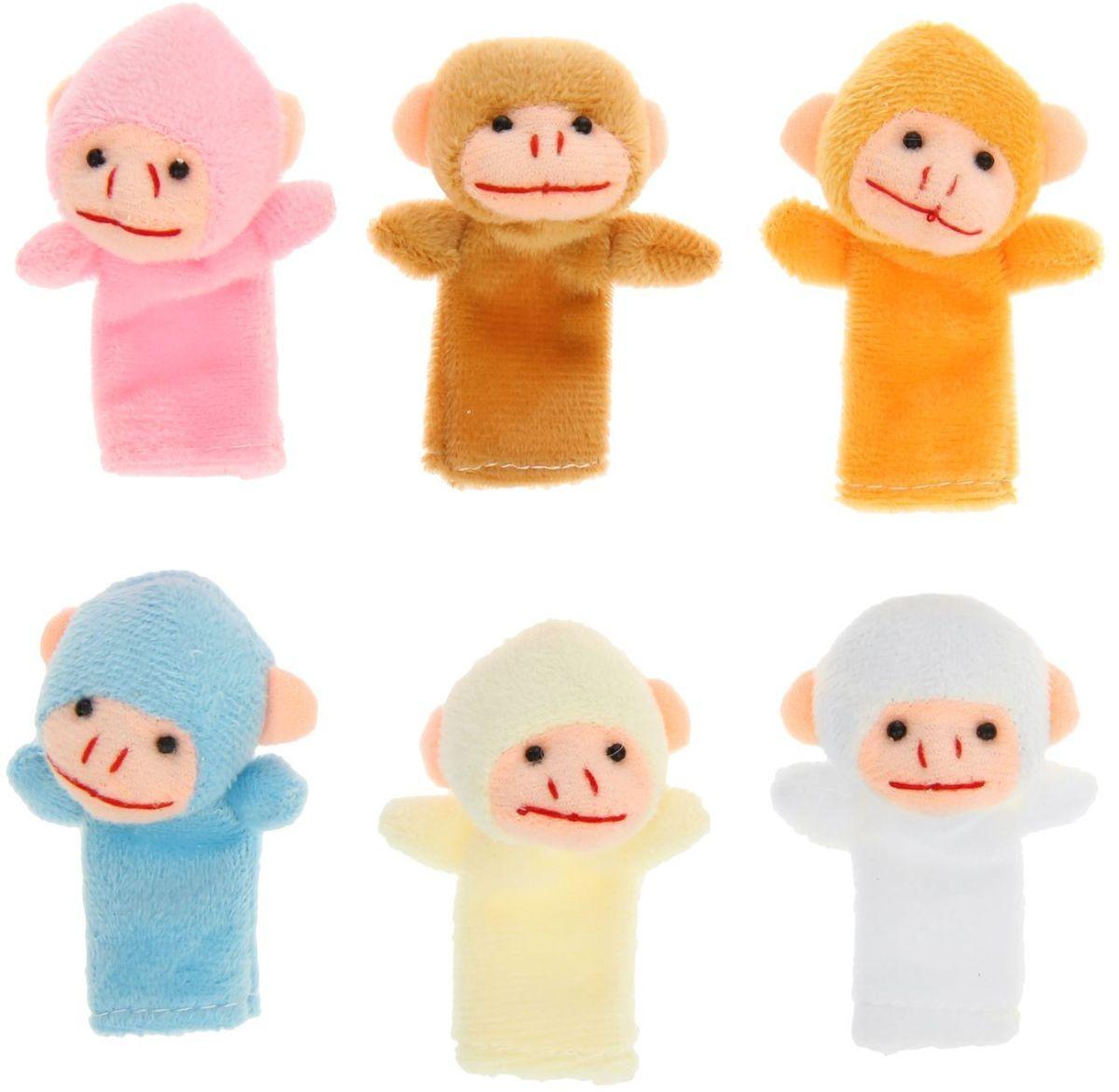 Sima-land Набор пальчиковых игрушек Обезьяна 10 шт sima land набор мягких игрушек на руку теремок 6 персонажей 477058