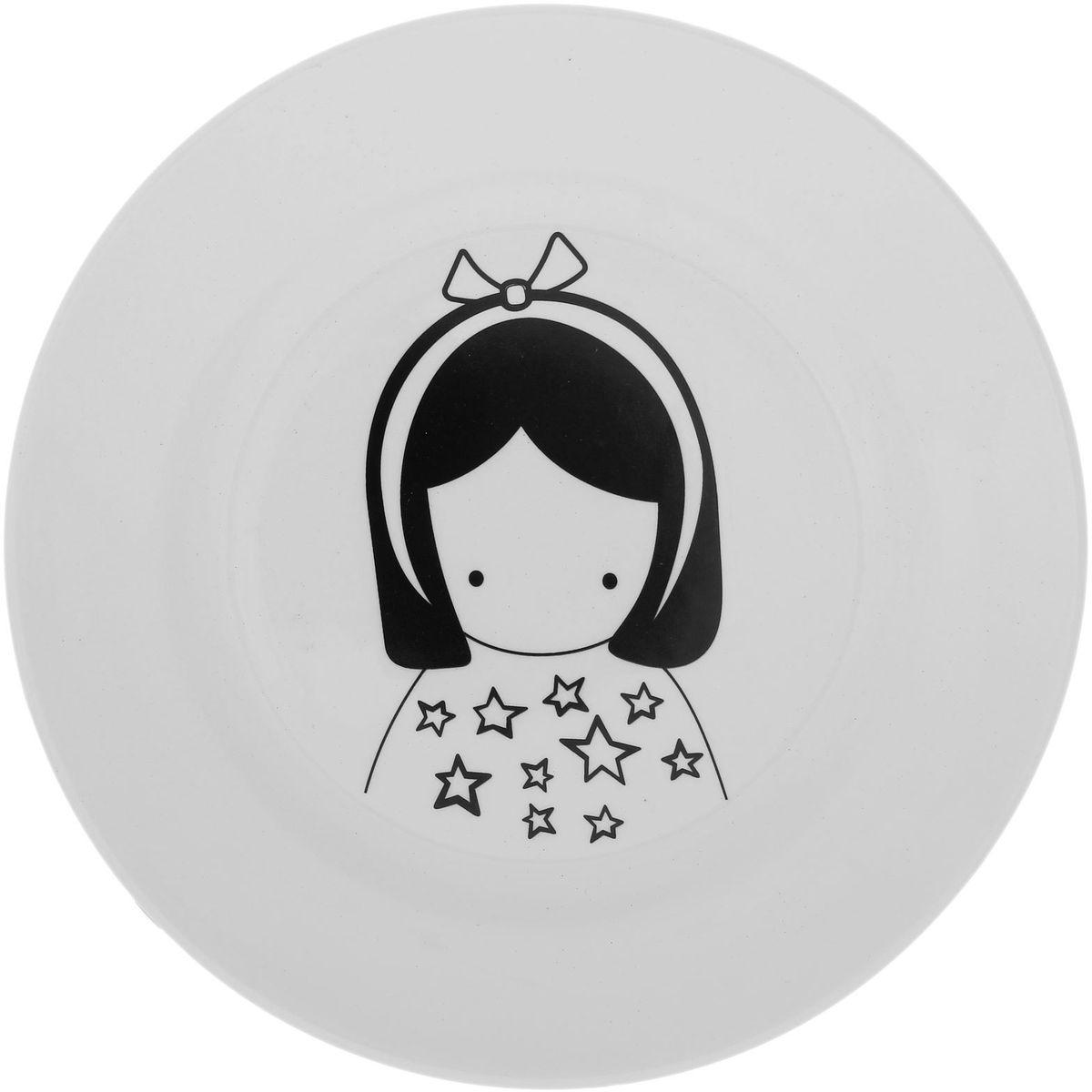 Тарелка мелкая Сотвори чудо Куколка Faien, диаметр 20 см54 009312Хотите обновить интерьер кухни или гостиной? Устраиваете необычную фотосессию или тематический праздник? А может, просто ищете подарок для близкого человека? Посуда Сотвори Чудо — правильный выбор в любой ситуации. Тарелка Сотвори Чудо, изготовленная из изящного фаянса нежного сливочного цвета, оформлена оригинальным рисунком со стойкой краской. Пригодна для посудомоечной машины.
