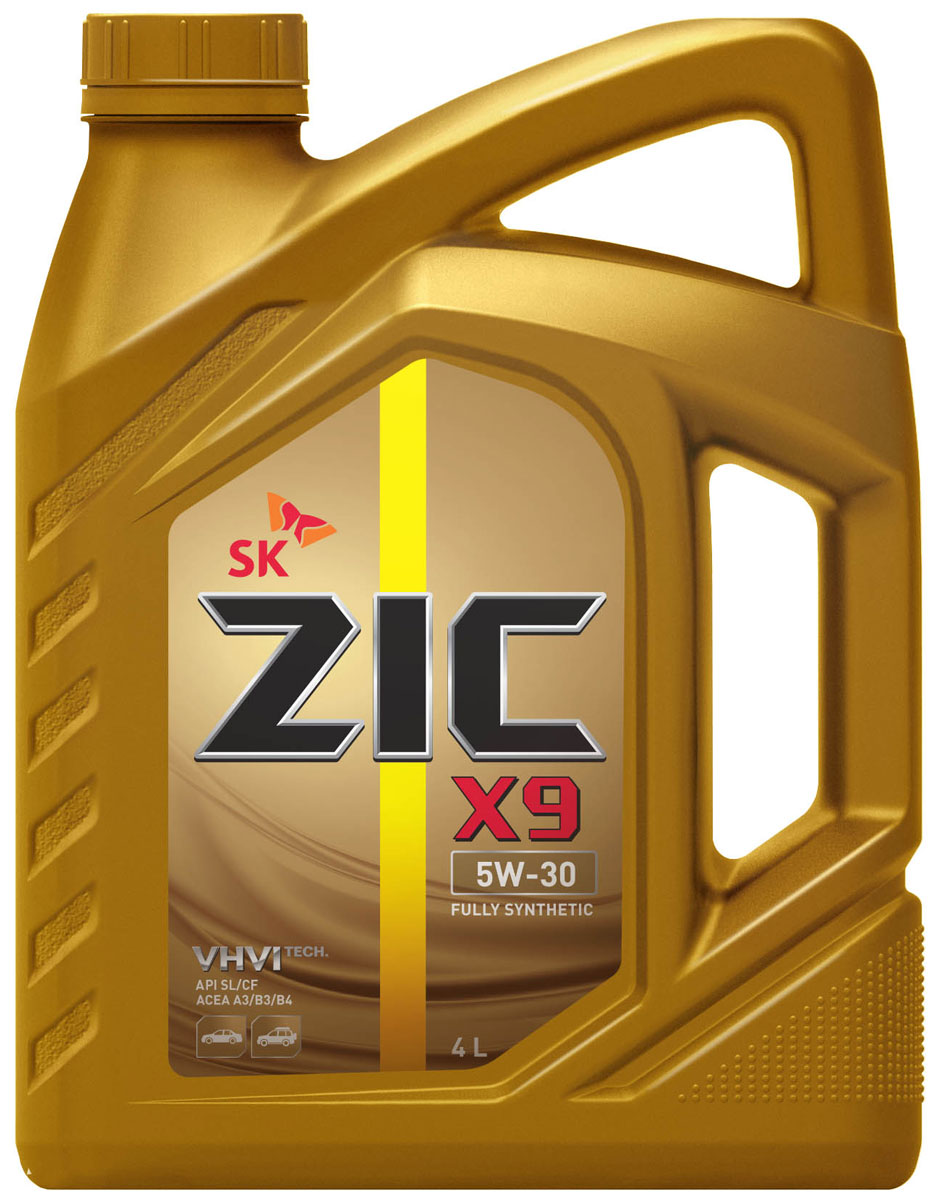 Масло моторное ZIC X9, синтетическое, класс вязкости 5W-30, API SL/CF, 4 л. 162614790009ZIC X9 - всесезонное полностью синтетическое моторное масло премиум-класса, изготовленное на основе базового масла высочайшего качества YUBASE и современного пакета присадок. Синтетическая основа и комплекс специальных присадок гарантируют дополнительный ресурс эксплуатационных характеристик, что позволяет увеличивать интервал замены масла в случае наличия рекомендации производителя автомобиля.Плотность при 15°C: 0,8524 г/см3.Температура вспышки: 224°С. Температура застывания: -40°С.Индекс вязкости: 171.
