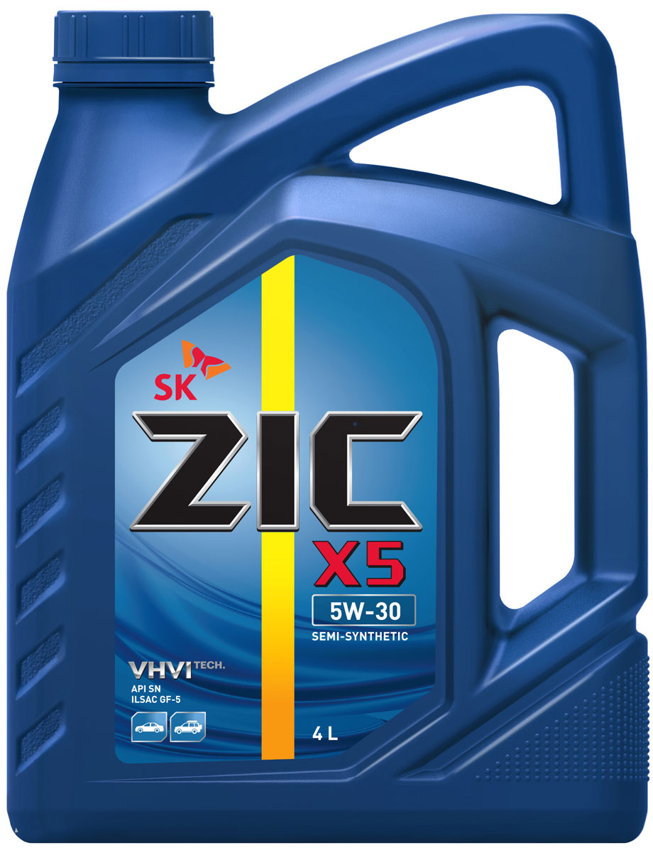 Масло моторное ZIC X5, полусинтетическое, класс вязкости 5W-30, API SN, 4 л. 162621162621Всесезонное полусинтетическое моторное масло ZIC X5 предназначено для бензиновых двигателей и обеспечивает надежную защиту. Изготовлено на основе базового масла YUBASE и сбалансированного пакета современных присадок. Плотность при 15°C: 0,8467 г/см3.Температура вспышки: 230°С. Температура застывания: -42,5°С.Индекс вязкости: 170.