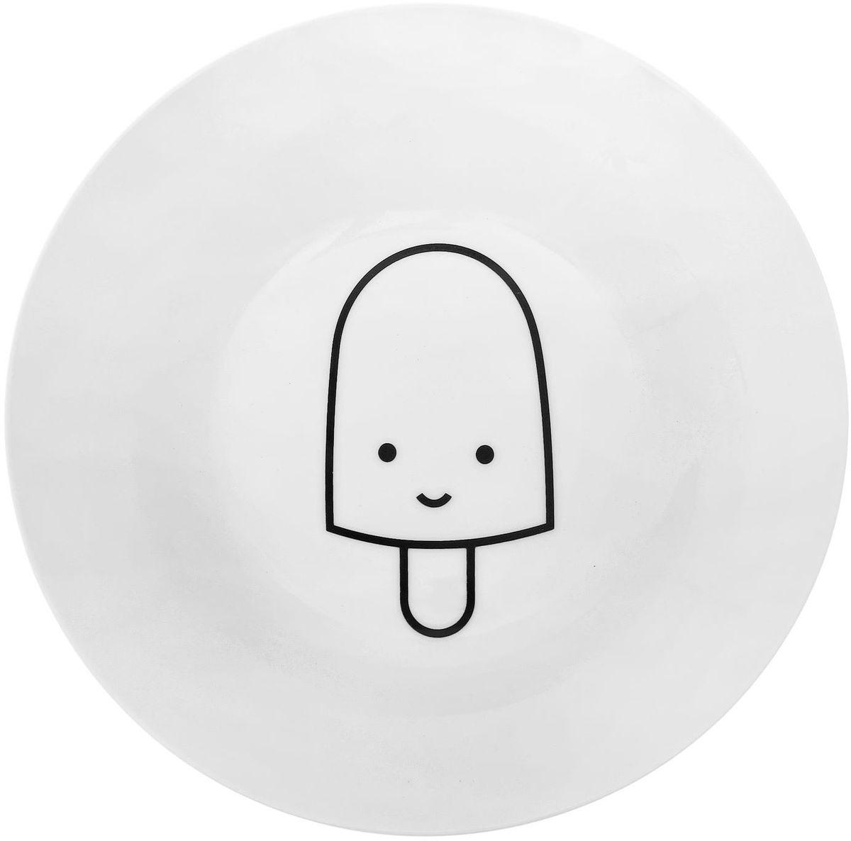 Тарелка глубокая Сотвори чудо My Little Ice Cream, диаметр 20 см54 009312Хотите обновить интерьер кухни или гостиной? Устраиваете необычную фотосессию или тематический праздник? А может, просто ищете подарок для близкого человека? Посуда Сотвори Чудо — правильный выбор в любой ситуации. Тарелка Сотвори Чудо, изготовленная из изящного фаянса нежного сливочного цвета, оформлена оригинальным рисунком со стойкой краской. Пригодна для посудомоечной машины.