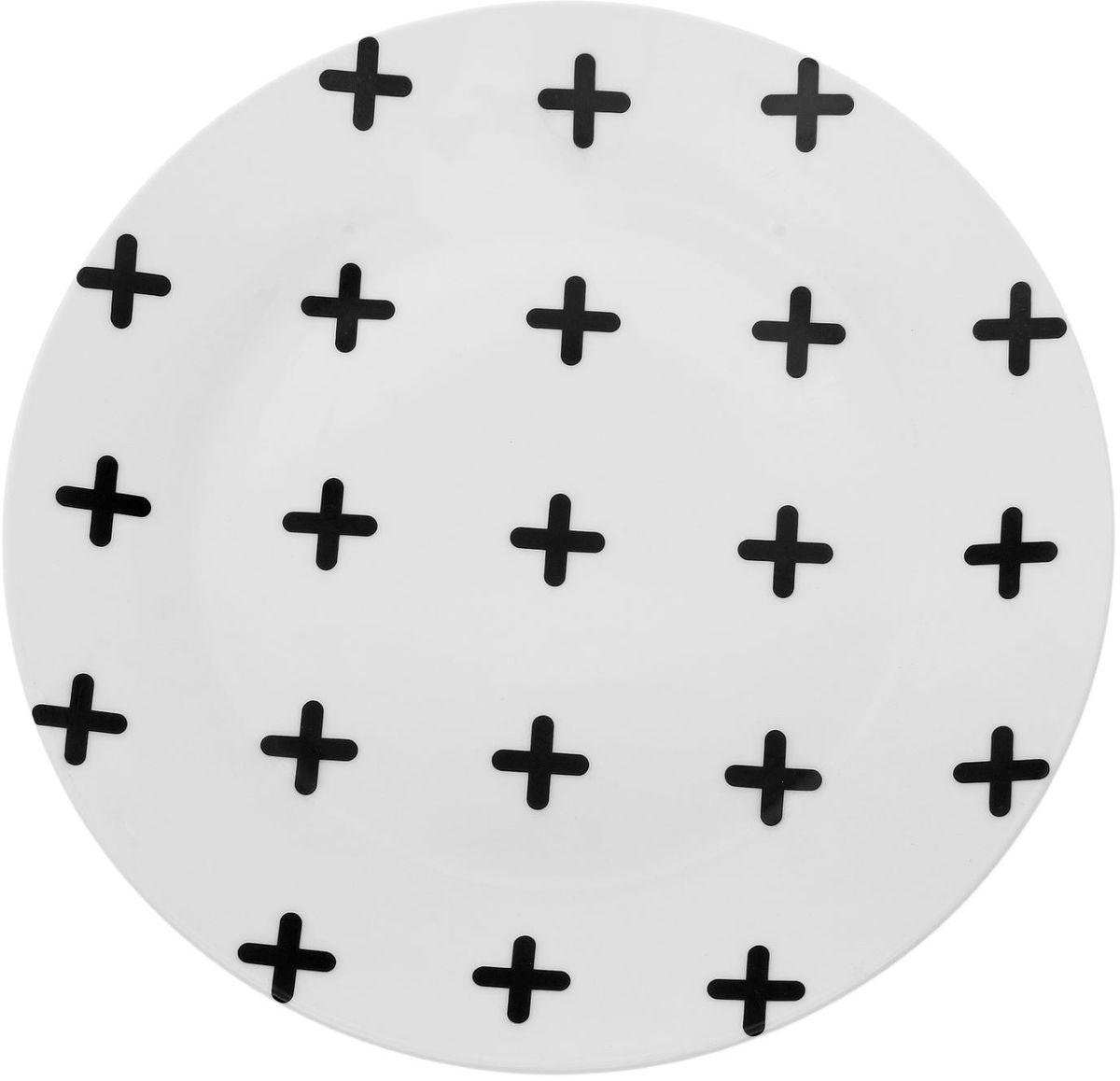 Тарелка Сотвори чудо My Little Cross, диаметр 23 см1661827Хотите обновить интерьер кухни или гостиной? Устраиваете необычную фотосессию или тематический праздник? А может, просто ищете подарок для близкого человека? Посуда Сотвори Чудо — правильный выбор в любой ситуации. Тарелка Сотвори Чудо, изготовленная из изящного фаянса нежного сливочного цвета, оформлена оригинальным рисунком со стойкой краской. Пригодна для посудомоечной машины.