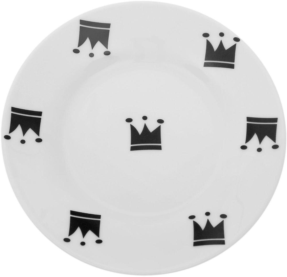 Тарелка мелкая Сотвори чудо My Little Crown, диаметр 15,5 см. 1661828115510Хотите обновить интерьер кухни или гостиной? Устраиваете необычную фотосессию или тематический праздник? А может, просто ищете подарок для близкого человека? Посуда Сотвори Чудо — правильный выбор в любой ситуации. Тарелка Сотвори Чудо, изготовленная из изящного фаянса нежного сливочного цвета, оформлена оригинальным рисунком со стойкой краской. Пригодна для посудомоечной машины.