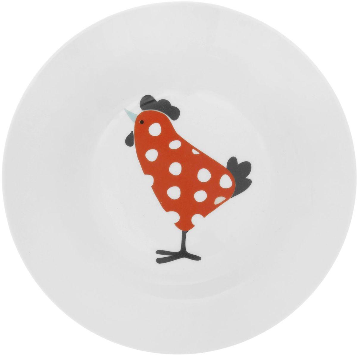 Тарелка глубокая Сотвори чудо My Chicken, диаметр 20 см54 009312Хотите обновить интерьер кухни или гостиной? Устраиваете необычную фотосессию или тематический праздник? А может, просто ищете подарок для близкого человека? Посуда Сотвори Чудо — правильный выбор в любой ситуации. Тарелка Сотвори Чудо, изготовленная из изящного фаянса нежного сливочного цвета, оформлена оригинальным рисунком со стойкой краской. Пригодна для посудомоечной машины.