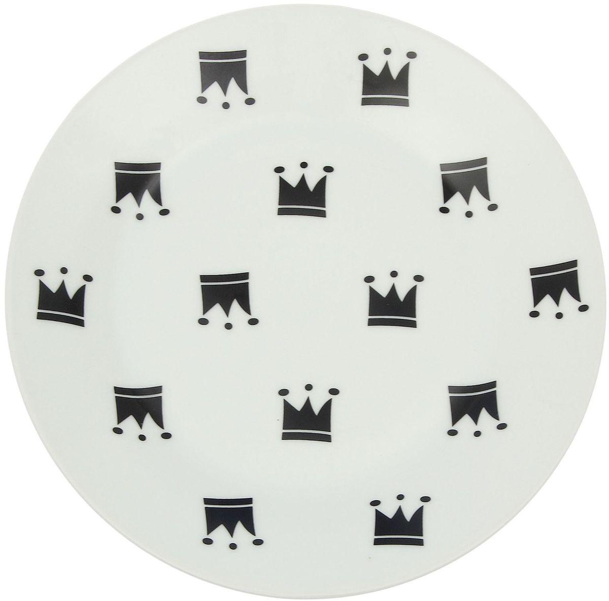 Тарелка мелкая Сотвори чудо My Little Crown, диаметр 20 см54 009312Хотите обновить интерьер кухни или гостиной? Устраиваете необычную фотосессию или тематический праздник? А может, просто ищете подарок для близкого человека? Посуда Сотвори Чудо — правильный выбор в любой ситуации. Тарелка Сотвори Чудо, изготовленная из изящного фаянса нежного сливочного цвета, оформлена оригинальным рисунком со стойкой краской. Пригодна для посудомоечной машины.