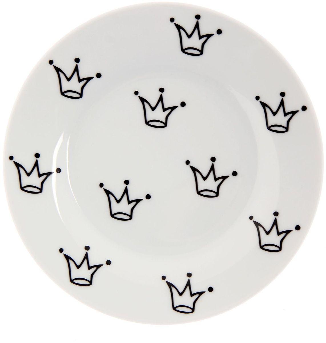 Тарелка мелкая Сотвори чудо My Little Crown, диаметр 15,5 см115510Хотите обновить интерьер кухни или гостиной? Устраиваете необычную фотосессию или тематический праздник? А может, просто ищете подарок для близкого человека? Посуда Сотвори Чудо — правильный выбор в любой ситуации. Тарелка Сотвори Чудо, изготовленная из изящного фаянса нежного сливочного цвета, оформлена оригинальным рисунком со стойкой краской. Пригодна для посудомоечной машины.