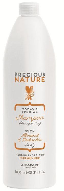 Alfaparf Precious Nature Pure Color Protection Shampoo Шампунь для окрашенных волоc, 1000 мл12519Мягкий бережно очищающий шампунь сохраняет глубину и насыщенность цвета, поддерживая блеск и качество волос. Уникальная формула, в состав которой входит эссенция фисташки*, известная своими редкими антиоксидантными и фотозащитными свойствами, а также масло сладкого миндаля, продлевает интенсивность цветовых нюансов и блеск, защищает структуру волос. *100% натуральный ингредиент. НЕ СОДЕРЖИТ: сульфатов, парабенов, парафинов, минеральных масел, синтетических веществ, аллергенов*гипоаллергенные экстракты растений и ароматизаторыОбъем: 1000 мл