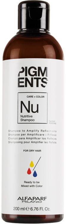 Alfaparf Pigments Nutritive Shampoo Шампунь питающий для сухих волос, 200 млMP59.4DМягкий шампунь предназначен для питания сухих волос. Специально разработанная формула поддерживает цвет и гарантирует стабильность пигмента в смеси. Входящие в состав растительные масла, богатые жирными кислотами, витаминами А и Е обеспечивают сбалансированное питание сухих и пушащихся волос, делая их мягкими и наполненными жизненной силой. БЕЗ СУЛЬФАТОВ И ПАРАБЕНОВОбъем: 200 мл