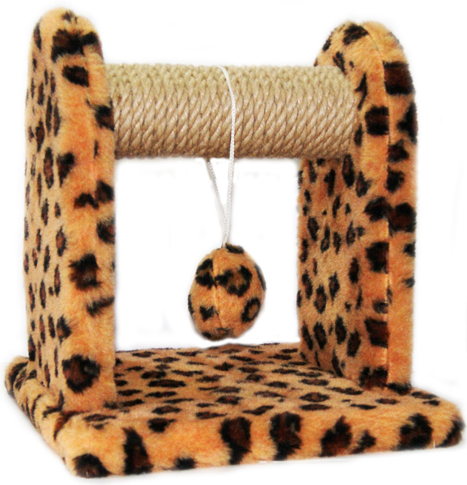 Когтеточка для котят Меридиан Леопардовая, с игрушкой, 26 х 26 х 28 см0120710Когтеточка Меридиан Леопардовая, с игрушкой предназначена для стачивания когтей вашего питомца. Изделие обтянуто искусственным мехом, а корпус выполнен из ДВП и ДСП. Когтеточка позволяет сохранить неповрежденными мебель и другие предметы интерьера.
