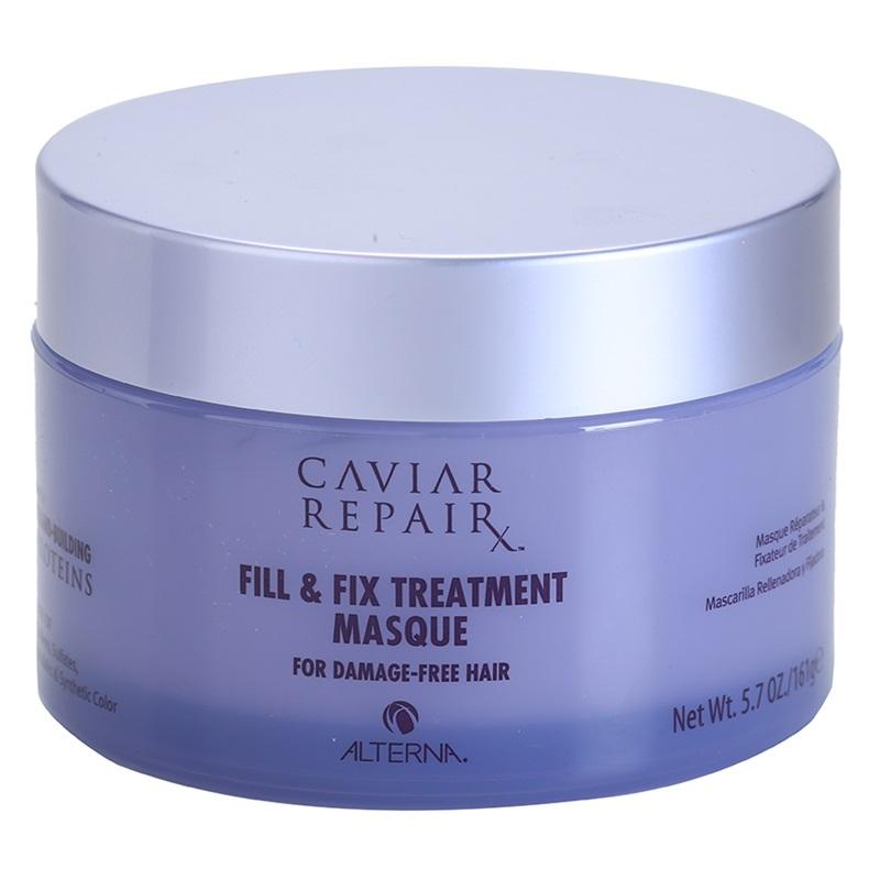 Alterna Интенсивная маска Молекулярное восстановление структуры Caviar Repair Rx Micro-Bead Fill & Fix Treatment Masque 161 гMP59.4DМаска глубоко восстанавливает волосы благодаря микрокапсулам протеина, которые питают и укрепляют каждую прядь, при этом облегчая процесс укладки. Эти сильнодействующие ингредиенты помогают регенерировать структуру волос изнутри. Они заполняют все повреждения кутикулы волоса, которые вызваны негативными факторами. Маска питает и увлажняет волосы, а так же делает волосы более послушными при укладке. После применения волосы становятся идеально мягкими, блестящими и полностью восстановленными. Не содержат: парабенов, глютенов, хлорида натрия, флататов и синтетических красителей. При этом производство не наносит вред окружающей среде. Не тестируется на животных. Способ применения: Наносить на чистые волосы. Перед использованием удалить лишнюю воду. Оставить на 3 минуты. Тщательно промыть волосы. Использовать ежедневно или несколько раз в неделю для интенсивного восстановления. Для максимального эффекта рекомендуется использовать совместно с Caviar Repair RX Instant Recovery Shampoo. Избегать попадания в глаза.