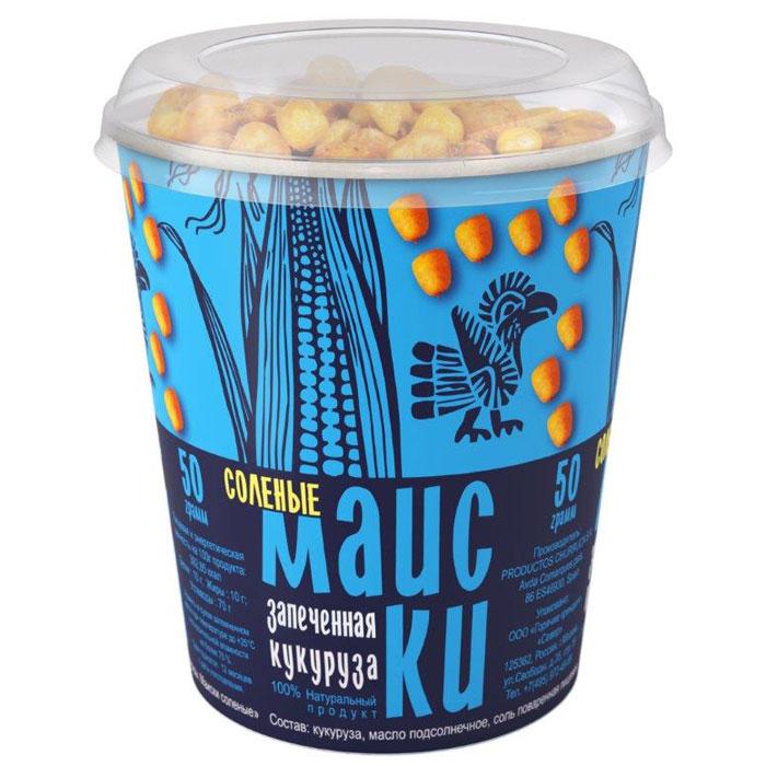 Маиски Соленые печеная кукуруза в стаканчике, 50 г